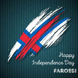 Faroes Independence Day Patriotic Design. Stock Images