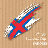 Faroes Independence Day Patriotic Design. Stock Photo