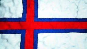 Faroese Flag Seamless Video Loop stock footage