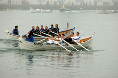 Faroese rowing competiton Royalty Free Stock Image