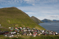 Faroese Village. A village on Stremoy - Faroe Islands Royalty Free Stock Photos