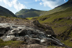 Faroese Waterfall. Waterfall at Saksun - Faroe Islands Royalty Free Stock Photography