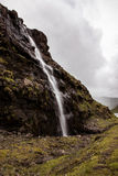 Faroese Waterfall. Waterfall on Streymoy - Faroe Islands Stock Photos