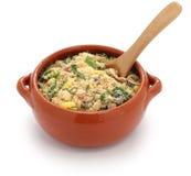 Farofa, alimento brasiliano Immagini Stock