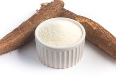 Farofa. Cassava Flour. Isolated on white background Royalty Free Stock Photography