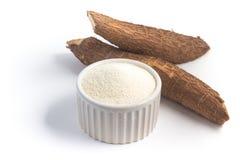 Farofa. Cassava Flour. Isolated on white background Royalty Free Stock Images