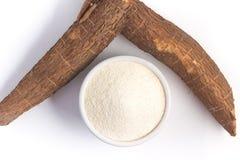 Farofa. Cassava Flour. Isolated on white background Stock Photo