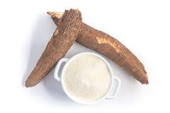 Farofa. Cassava Flour. Isolated on white background Royalty Free Stock Image