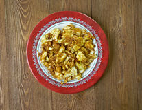 Farofa de ovos. Egg with flour or cassava.Latin Kitchen Royalty Free Stock Photos