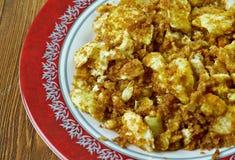 Farofa de ovos. Egg with flour or cassava.Latin Kitchen Stock Photography