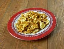 Farofa de ovos. Egg with flour or cassava.Latin Kitchen Royalty Free Stock Image