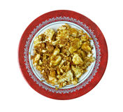 Farofa de ovos. Egg with flour or cassava.Latin Kitchen Royalty Free Stock Photography
