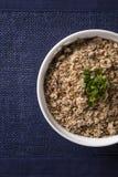 Farofa, a toasted cassava flour mixture. Farofa, a toasted cassava flour mixture Stock Photo