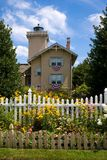 Farol & jardins Imagem de Stock Royalty Free