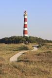 Farol Bornrif de Ameland perto de Hollum, Holanda Fotos de Stock