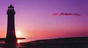 Farol Brighton Wirral England novo Reino Unido da rocha da vara Foto de Stock