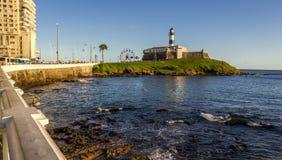 Farol da巴拉岛在萨尔瓦多 免版税库存照片