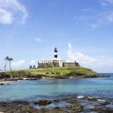 Farol da巴拉岛(巴拉岛灯塔)在萨尔瓦多,巴伊亚,巴西 免版税图库摄影