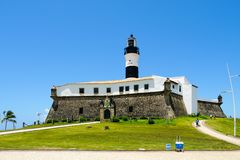 Farol da Barra Barra Lighthouse in Salvador, Bahia, Brazil. stock images