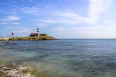 Farol da Barra Barra Lightouse - Salvador, Bahia, Brazil Royalty Free Stock Image