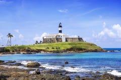 Farol DA Barra Lighthouse en Salvador da Bahia, el Brasil Fotos de archivo libres de regalías