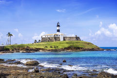 Farol DA Barra Lighthouse in Salvador da Bahia, Brasilien lizenzfreie stockfotos