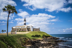 Farol da Barra is now the Nautical Museum of Bahia Royalty Free Stock Photo