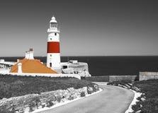 Farol da casa da trindade no Europa do ponto de Gibraltar Imagem de Stock