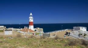 Farol da casa da trindade no Europa do ponto de Gibraltar Foto de Stock