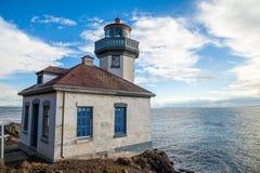 Farol da estufa de cal em San Juan Island, Washington fotografia de stock