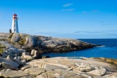 Farol da herança em uma praia. Imagens de Stock Royalty Free