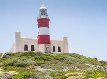 Farol de Agulhas do cabo em África do Sul Imagem de Stock Royalty Free