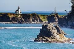 Farol de Arago do cabo na Costa do Pacífico de Oregon fotografia de stock royalty free