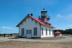 Farol de Cabrillo do ponto, Fort Bragg, Califórnia Foto de Stock