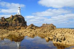Farol de Corbiere do La, Jersey Foto de Stock Royalty Free