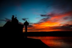 Farol de Filtvet, Noruega Foto de Stock Royalty Free