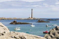 Farol de Ile Vierge, França fotografia de stock