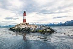 Farol de Les Eclaireurs no canal do lebreiro, Ushuaia - Argentina fotografia de stock royalty free