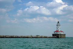 Farol de Michigan de lago Foto de Stock Royalty Free