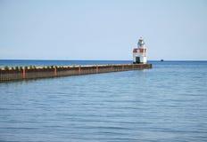 Farol de Michigan de lago Fotografia de Stock