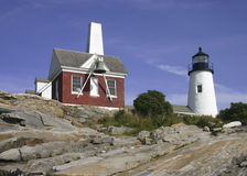 Farol de Pemaquid, Maine, EUA Foto de Stock Royalty Free