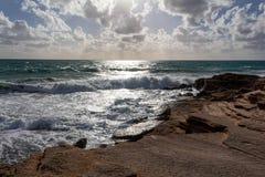 Farol de Trafalgar do cabo, Espanha de Cadiz fotografia de stock royalty free