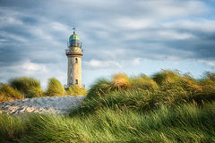 Farol de Warnemunde Foto de Stock Royalty Free