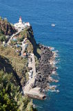 Farol do Arnel. Lighthouse in azores, San miguel, Portugal Stock Image