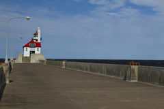 Farol do cais de Duluth S imagens de stock