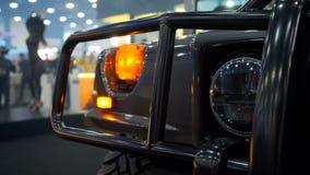 Farol do carro de SUV fotografia de stock
