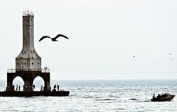 Farol do Lago Michigan imagens de stock royalty free