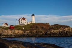 Farol do Nubble em Maine EUA Fotos de Stock Royalty Free