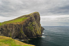 Farol do ponto de Neist na ilha de Skye, Scotland Fotografia de Stock