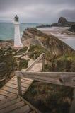 Farol do ponto do castelo, Nova Zelândia Foto de Stock